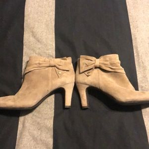 Taupe booties, size 8.5, like new